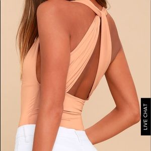 Bodysuit. Peach color as pictured.